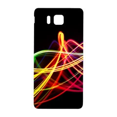 Vortex Rainbow Twisting Light Blurs Green Orange Green Pink Purple Samsung Galaxy Alpha Hardshell Back Case