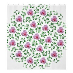 Rose Flower Pink Leaf Green Shower Curtain 66  X 72  (large)  by Alisyart