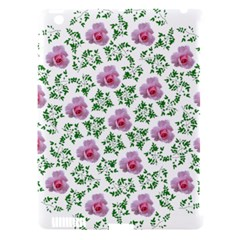 Rose Flower Pink Leaf Green Apple Ipad 3/4 Hardshell Case (compatible With Smart Cover) by Alisyart