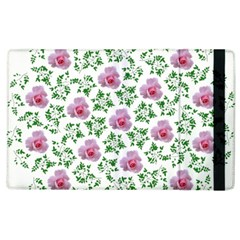 Rose Flower Pink Leaf Green Apple Ipad 3/4 Flip Case by Alisyart