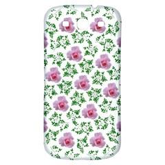 Rose Flower Pink Leaf Green Samsung Galaxy S3 S Iii Classic Hardshell Back Case by Alisyart