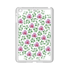 Rose Flower Pink Leaf Green iPad Mini 2 Enamel Coated Cases by Alisyart
