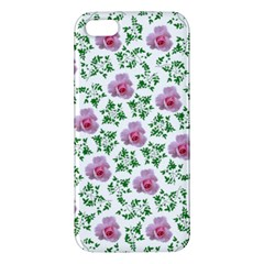 Rose Flower Pink Leaf Green Apple Iphone 5 Premium Hardshell Case by Alisyart