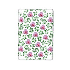 Rose Flower Pink Leaf Green Ipad Mini 2 Hardshell Cases by Alisyart