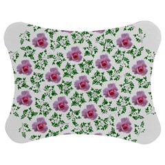 Rose Flower Pink Leaf Green Jigsaw Puzzle Photo Stand (bow) by Alisyart