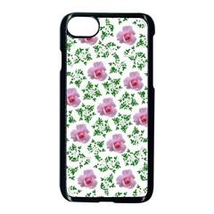 Rose Flower Pink Leaf Green Apple Iphone 7 Seamless Case (black) by Alisyart