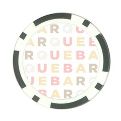 Alphabeth Rainbow Color Poker Chip Card Guard (10 Pack) by Alisyart
