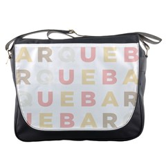 Alphabeth Rainbow Color Messenger Bags by Alisyart
