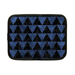 Triangle2 Black Marble & Blue Stone Netbook Case (small) by trendistuff