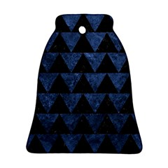 Triangle2 Black Marble & Blue Stone Ornament (bell) by trendistuff