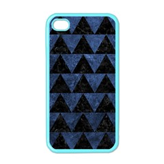 Triangle2 Black Marble & Blue Stone Apple Iphone 4 Case (color) by trendistuff