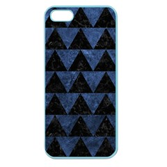 Triangle2 Black Marble & Blue Stone Apple Seamless Iphone 5 Case (color) by trendistuff