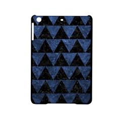 Triangle2 Black Marble & Blue Stone Apple Ipad Mini 2 Hardshell Case by trendistuff