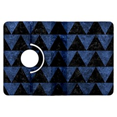Triangle2 Black Marble & Blue Stone Kindle Fire Hdx Flip 360 Case by trendistuff