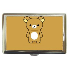 Bear Minimalist Animals Brown White Smile Face Cigarette Money Cases by Alisyart