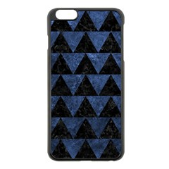 Triangle2 Black Marble & Blue Stone Apple Iphone 6 Plus/6s Plus Black Enamel Case by trendistuff