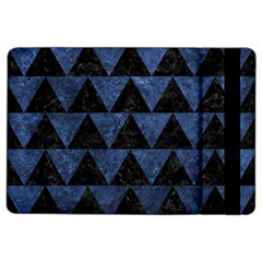 Triangle2 Black Marble & Blue Stone Apple Ipad Air 2 Flip Case by trendistuff
