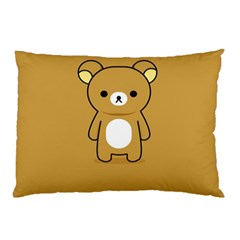 Bear Minimalist Animals Brown White Smile Face Pillow Case (two Sides) by Alisyart