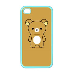 Bear Minimalist Animals Brown White Smile Face Apple Iphone 4 Case (color) by Alisyart