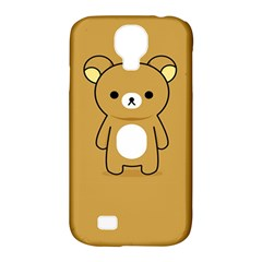 Bear Minimalist Animals Brown White Smile Face Samsung Galaxy S4 Classic Hardshell Case (pc+silicone) by Alisyart