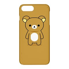 Bear Minimalist Animals Brown White Smile Face Apple Iphone 7 Plus Hardshell Case by Alisyart