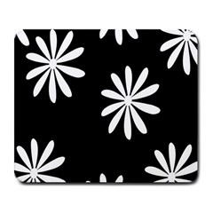 Black White Giant Flower Floral Large Mousepads by Alisyart