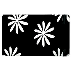 Black White Giant Flower Floral Apple Ipad 2 Flip Case by Alisyart