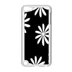 Black White Giant Flower Floral Apple Ipod Touch 5 Case (white) by Alisyart