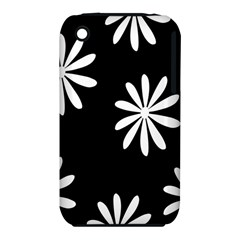 Black White Giant Flower Floral Iphone 3s/3gs by Alisyart