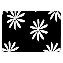 Black White Giant Flower Floral Samsung Galaxy Tab 8 9  P7300 Flip Case by Alisyart