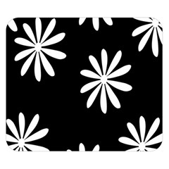 Black White Giant Flower Floral Double Sided Flano Blanket (small)  by Alisyart