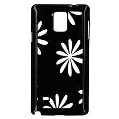 Black White Giant Flower Floral Samsung Galaxy Note 4 Case (black) by Alisyart