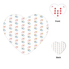 Baby Pacifier Pink Blue Brown Kids Playing Cards (heart)  by Alisyart