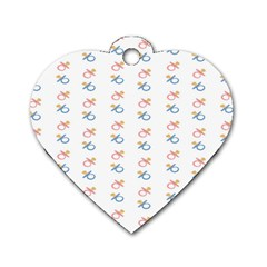 Baby Pacifier Pink Blue Brown Kids Dog Tag Heart (one Side) by Alisyart