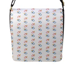 Baby Pacifier Pink Blue Brown Kids Flap Messenger Bag (l)  by Alisyart