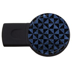 Triangle1 Black Marble & Blue Stone Usb Flash Drive Round (4 Gb)