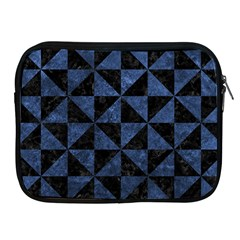 Triangle1 Black Marble & Blue Stone Apple Ipad Zipper Case by trendistuff