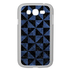Triangle1 Black Marble & Blue Stone Samsung Galaxy Grand Duos I9082 Case (white) by trendistuff