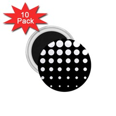 Circle Masks White Black 1 75  Magnets (10 Pack)  by Alisyart