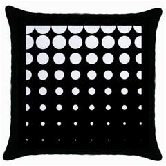 Circle Masks White Black Throw Pillow Case (black) by Alisyart