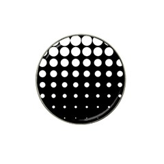 Circle Masks White Black Hat Clip Ball Marker (4 Pack) by Alisyart