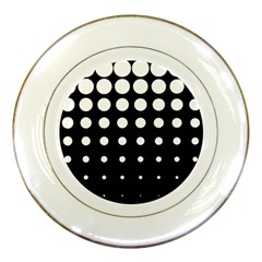 Circle Masks White Black Porcelain Plates by Alisyart