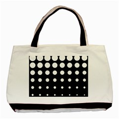 Circle Masks White Black Basic Tote Bag by Alisyart