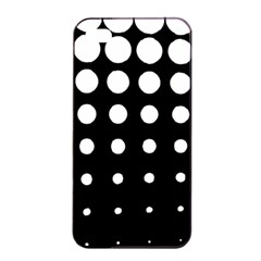 Circle Masks White Black Apple Iphone 4/4s Seamless Case (black) by Alisyart
