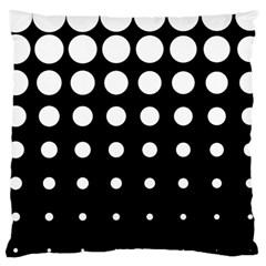 Circle Masks White Black Large Cushion Case (one Side) by Alisyart