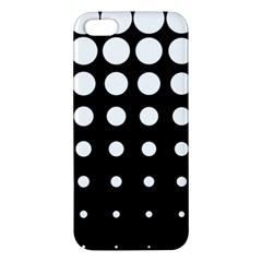 Circle Masks White Black Apple Iphone 5 Premium Hardshell Case by Alisyart