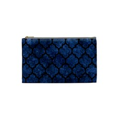 Tile1 Black Marble & Blue Stone (r) Cosmetic Bag (small) by trendistuff
