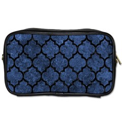 Tile1 Black Marble & Blue Stone (r) Toiletries Bag (two Sides) by trendistuff