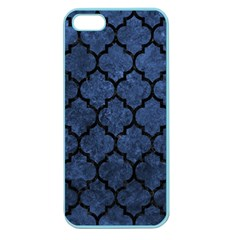 Tile1 Black Marble & Blue Stone (r) Apple Seamless Iphone 5 Case (color) by trendistuff