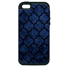 Tile1 Black Marble & Blue Stone (r) Apple Iphone 5 Hardshell Case (pc+silicone) by trendistuff